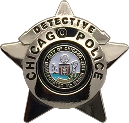 Commander CHICAGO POLICE DEPARTMENT STAR LAPEL PIN