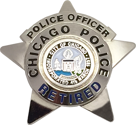 CHICAGO POLICE DEPARTMENT STAR LAPEL PIN: Police Officer (Retired)