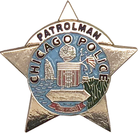 1960/'S Star with Bull Horns CHICAGO POLICE DEPARTMENT STAR LAPEL PIN