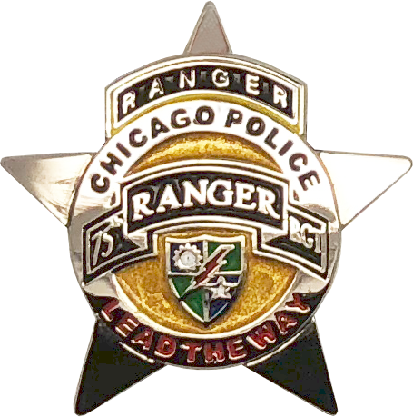 Chicago Police Department Star Lapel Pin Us Army 75th Ranger
