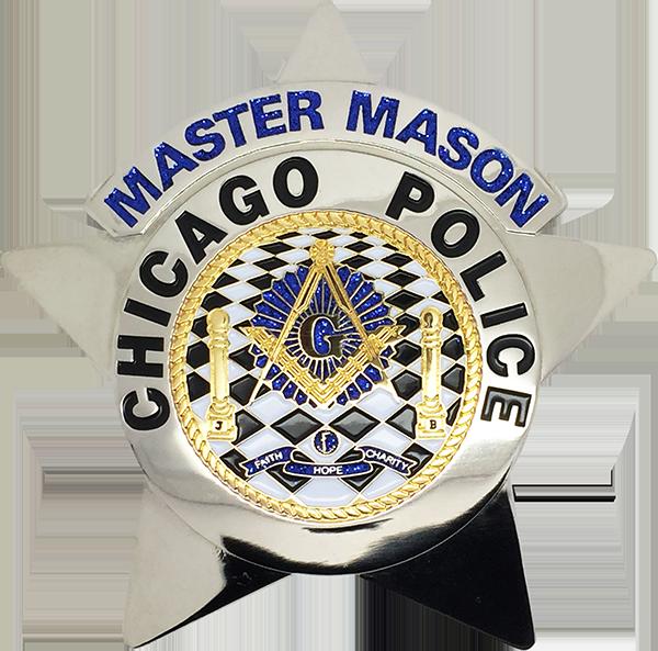 Chicago Police Star Badge Master Mason Chicago Cop Shop