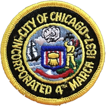 CITY OF CHICAGO SEAL (BLACK BORDER) 3″ PATCH | Chicago Cop Shop