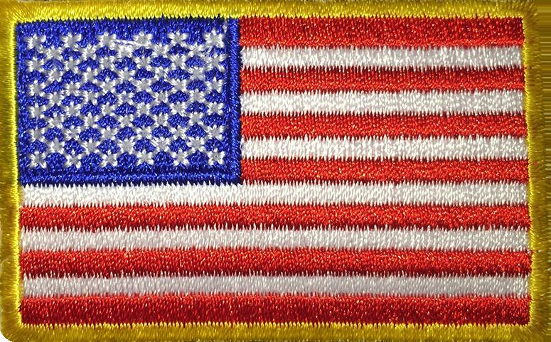America Flag Borderless Patch