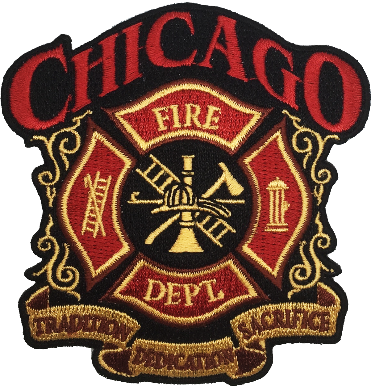 CHICAGO FIRE DEPARTMENT CREST PATCH
