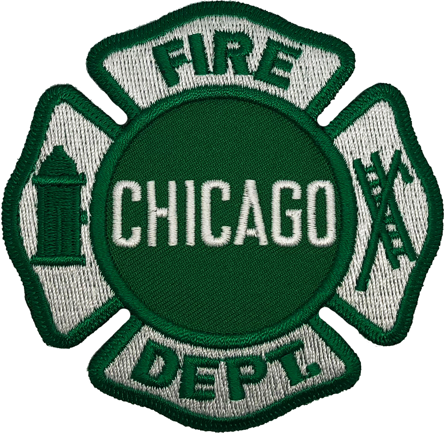 Chicago fire department maltese patch green chicago cop shop chicago fire department maltese patch green biocorpaavc Images