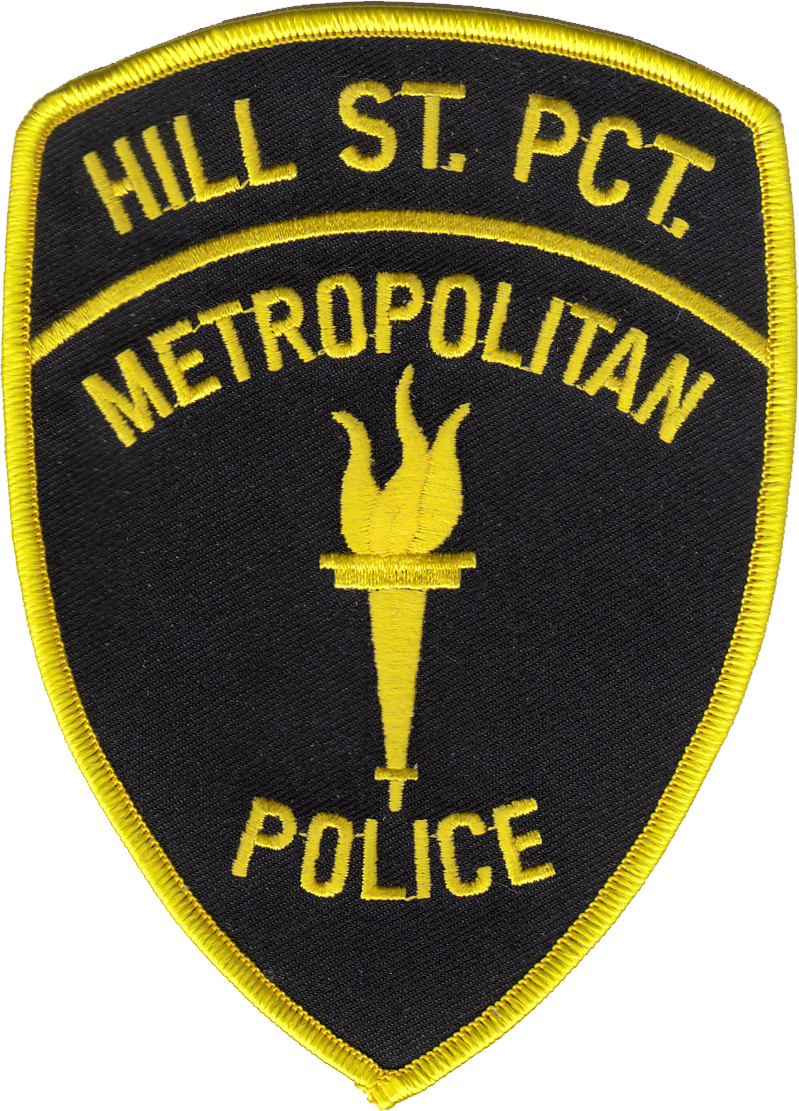 HILL STREET BLUES METROPOLITAN POLICE SHOULDER PATCH: Hill Street Precinct