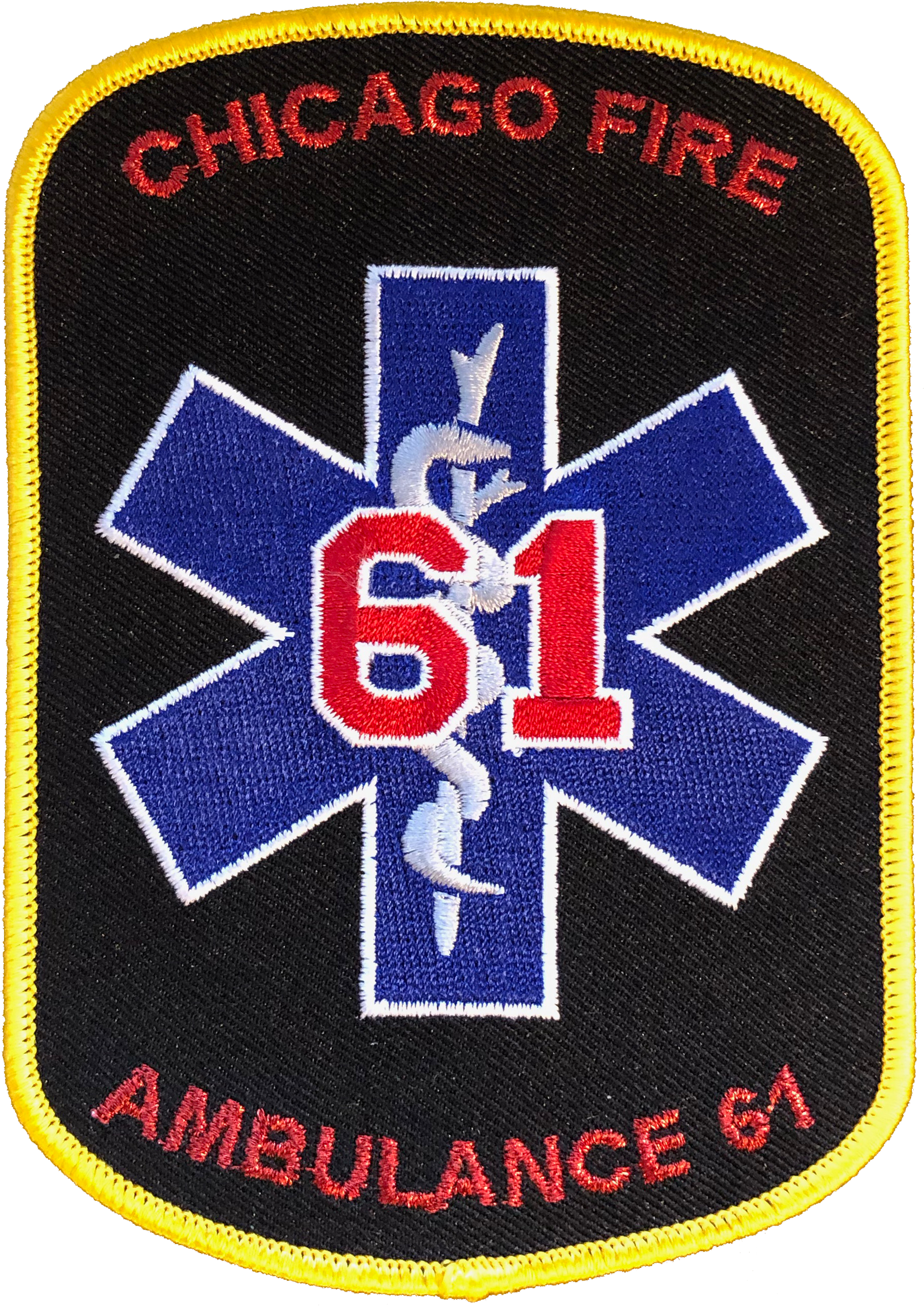 "Illinois Chicago  Squad-5 5/"" x 5/"" size fire patch"