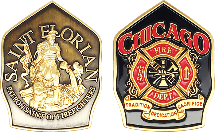 CHICAGO FIRE DEPARTMENT CHALLENGE COIN: Shield