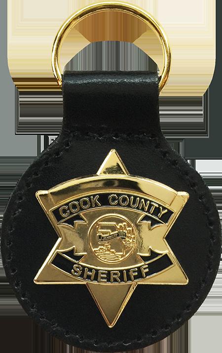 COOK COUNTY SHERIFF STAR KEY FOB: Supervisor