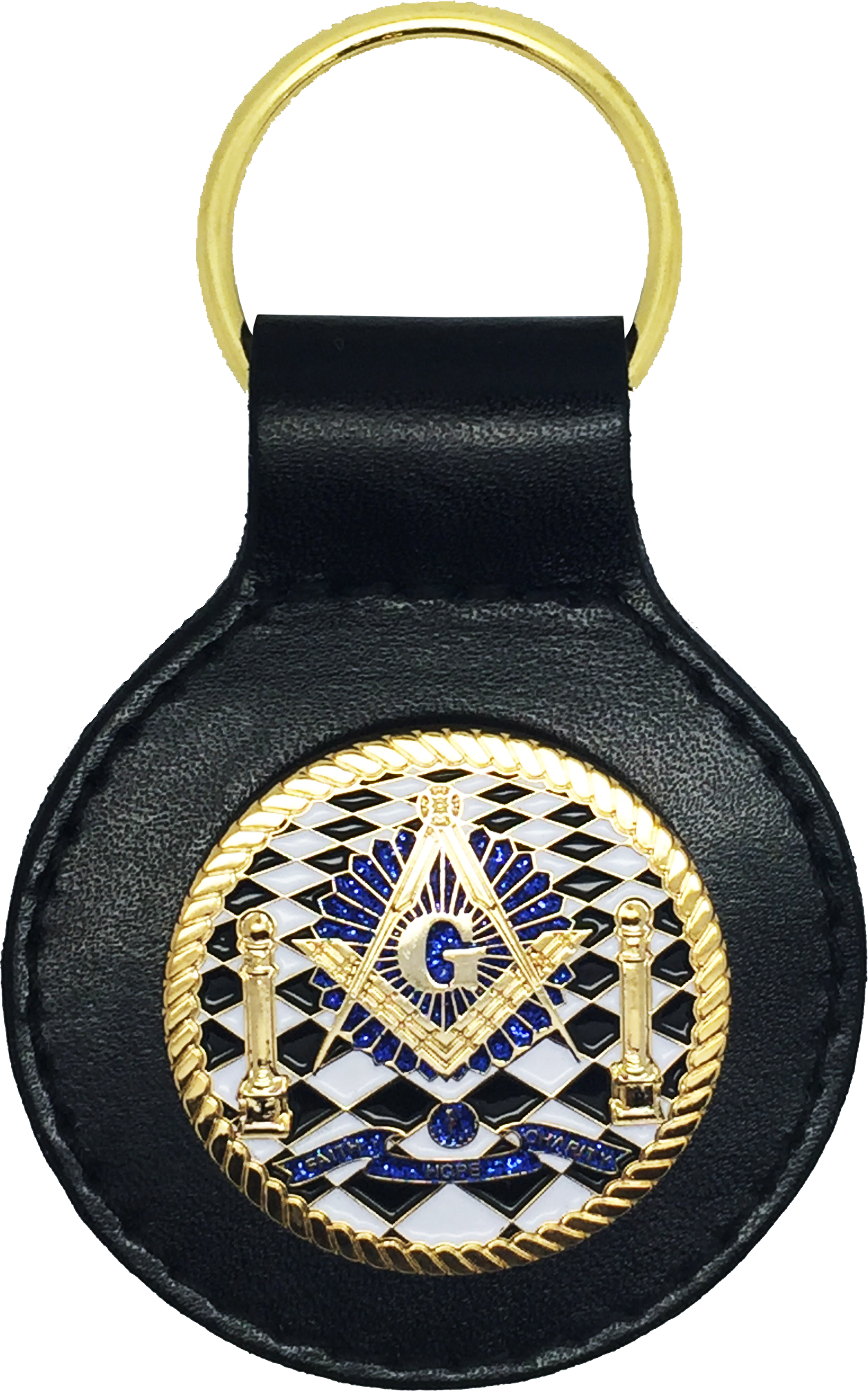 Mason Square and Compass Masonic Bottle Opener Key Fob Key Holder or Money Clip