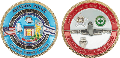 United StatesIllinois State Police ISPGold Plated Challenge Coin U.S