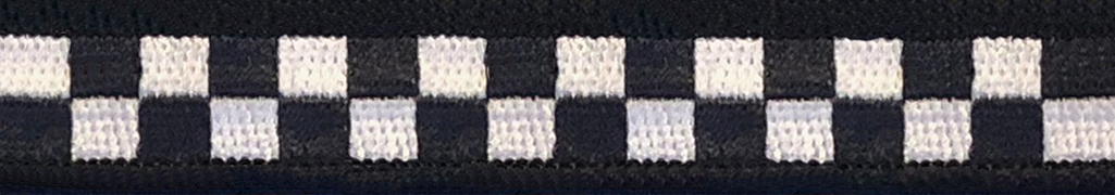 "CHICAGO POLICE CHECKER 1.5/"" HATBAND MATERIAL: Green /& White SILLITOE TARTAN"