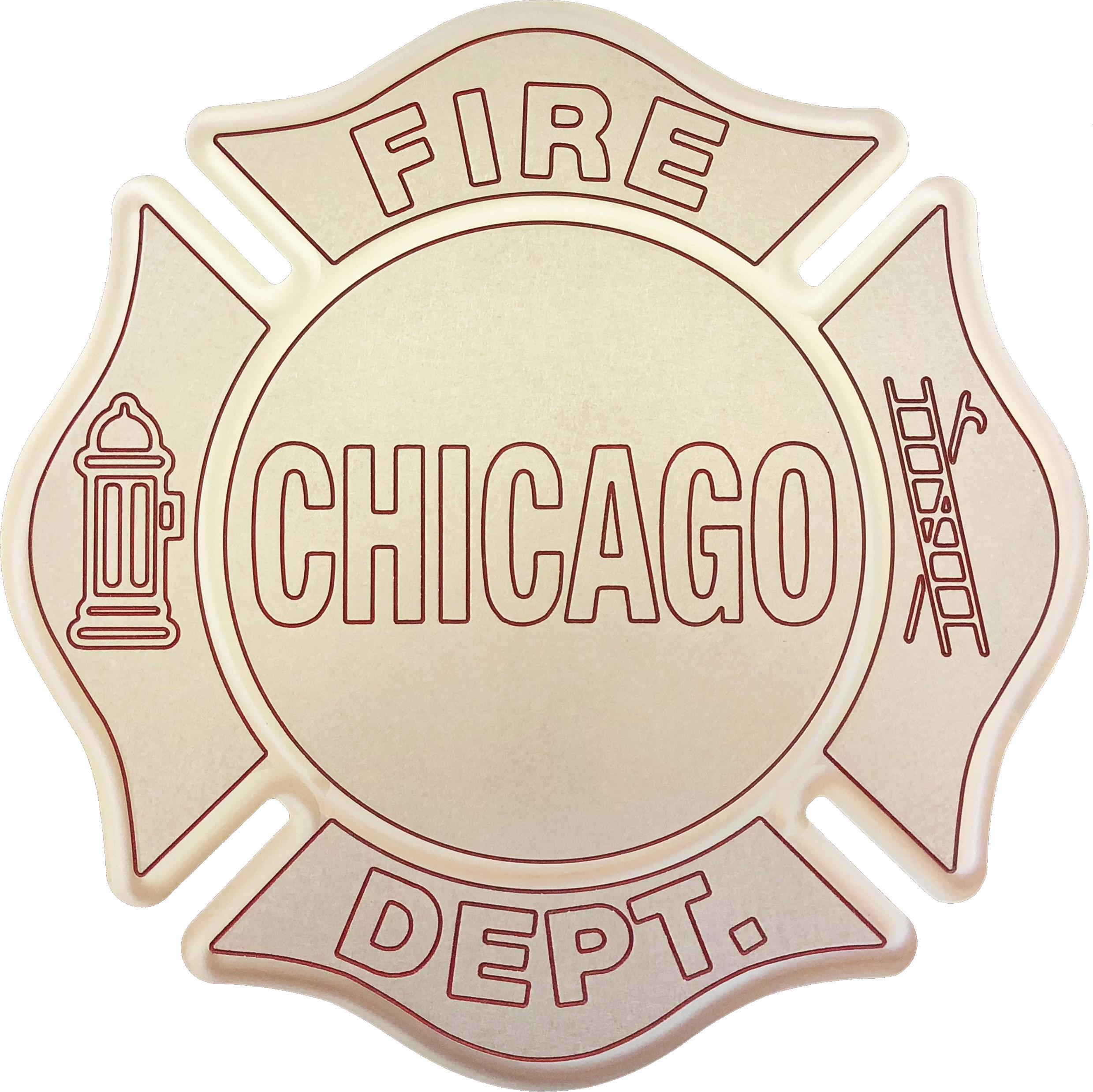 Chicago Fire Department Maltese 13 Metal Plaque Chicago Cop Shop